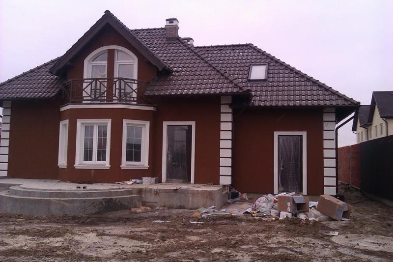 Покраска фасадов домов фото